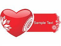 retro heart with sample text Stock Photo - Royalty-Free, Artist: aispl, Code: 400-04076345