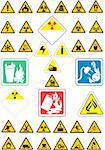 Vector illustration of warning signs Stock Photo - Royalty-Free, Artist: srdjanbg, Code: 400-04077844