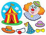 Circus clown collection - vector illustration. Stock Photo - Royalty-Free, Artist: clairev, Code: 400-04079072