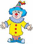 Smiling clown - vector illustration. Stock Photo - Royalty-Free, Artist: clairev, Code: 400-04079080