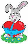 Valentine rabbit with heart - vector illustratin. Stock Photo - Royalty-Free, Artist: clairev, Code: 400-04080747