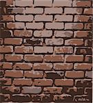 brick wall. Vector wallpaper Stock Photo - Royalty-Free, Artist: BooblGum, Code: 400-04080891