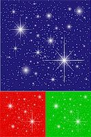 Twinkling Stars on Blue, Green and Red Backgrounds Stock Photo - Royalty-Freenull, Code: 400-04083964