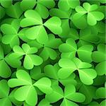 Seamless green clover background for St.Patrick day Stock Photo - Royalty-Free, Artist: sahua, Code: 400-04089221