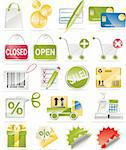 Shopping and consumerism related icon set Stock Photo - Royalty-Free, Artist: tele52, Code: 400-04097382