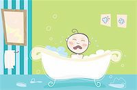 Vector illustration of crying boy Stock Photo - Royalty-Freenull, Code: 400-04098148
