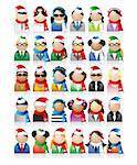 Business people icons, christmas holiday Stock Photo - Royalty-Free, Artist: Kudryashka, Code: 400-04099949