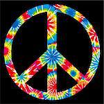 Tie Dyed Peace Symbol Stock Photo - Royalty-Free, Artist: adroach, Code: 400-04100956