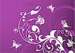 Abstract Floral Background with butterfly, element for design, vector illustration