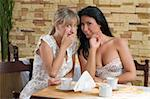 two friends chatting each others in a cafe drinking a cup of tea Stock Photo - Royalty-Free, Artist: carlodapino, Code: 400-04103836