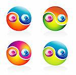 Ying Yang Glossy Colorful style