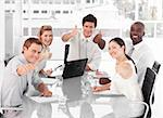 Young Business Team Celebrating Success Stock Photo - Royalty-Free, Artist: 4774344sean, Code: 400-04107259