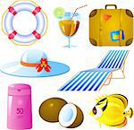 Vector image of vacation icon set, isolated Stock Photo - Royalty-Free, Artist: jara3000, Code: 400-04116891