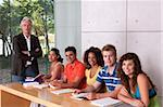Group of happy students studying with lecturer Stock Photo - Royalty-Free, Artist: carlosseller, Code: 400-04117501