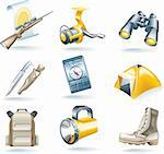 Set of hunt and fishing related icons Stock Photo - Royalty-Free, Artist: tele52, Code: 400-04118805