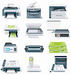 Set of realistic computer components icons Stock Photo - Royalty-Free, Artist: tele52, Code: 400-04121243