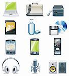Set of realistic computer components icons Stock Photo - Royalty-Free, Artist: tele52, Code: 400-04121244