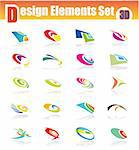 Three dimensional design elments with colorful shapes Stock Photo - Royalty-Free, Artist: DavidArts, Code: 400-04121998