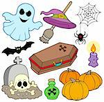 Various Halloween images 3 - vector illustration. Stock Photo - Royalty-Free, Artist: clairev, Code: 400-04122566