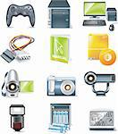 Set of realistic computer components icons Stock Photo - Royalty-Free, Artist: tele52, Code: 400-04122675
