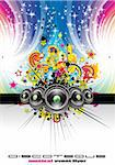 Magic Dance and Rainbow Colorful Music Background Stock Photo - Royalty-Free, Artist: DavidArts, Code: 400-04124864