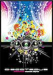 Magic Dance and Rainbow Colorful Music Background Stock Photo - Royalty-Free, Artist: DavidArts, Code: 400-04124865