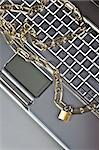 Padlock and notebook computer Stock Photo - Royalty-Free, Artist: JanPietruszka, Code: 400-04126857