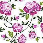 Romantic pink roses seamless pattern tile.