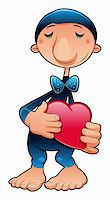 funny character in love, vector cartoon illustration Stock Photo - Royalty-Freenull, Code: 400-04131101