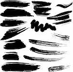 Collection of designe ellements. Grunge vector brush strokes