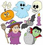 Halloween cartoons collection - vector illustration. Stock Photo - Royalty-Free, Artist: clairev                       , Code: 400-04135128