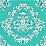retro seamless tiling floral wallpaper pattern reminiscent of floral victorian designs inspired by greek and roman ornament Stock Photo - Royalty-Free, Artist: Krisdog                       , Code: 400-04136863
