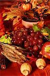 Still life and harvest or table decoration for Thanksgiving Stock Photo - Royalty-Free, Artist: Brebca                        , Code: 400-04140553
