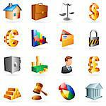 Set of 16 vector business and office icons. Stock Photo - Royalty-Free, Artist: timurock                      , Code: 400-04141383