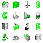 Set of 16 vector business and office icons. Stock Photo - Royalty-Free, Artist: timurock                      , Code: 400-04141839