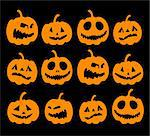 Halloween night background, pumpkins Stock Photo - Royalty-Free, Artist: Kudryashka                    , Code: 400-04141994