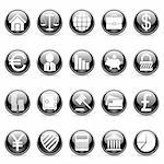 Set of 20 business and finance buttons. Stock Photo - Royalty-Free, Artist: timurock, Code: 400-04145386