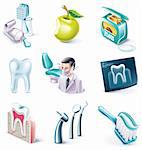 Set of highly detailed cartoon icons Stock Photo - Royalty-Free, Artist: tele52, Code: 400-04150155