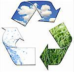 Abstract Recycling Symbol Representing Air Land and Sea Stock Photo - Royalty-Free, Artist: tobkatina, Code: 400-04150551
