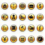 Set of 20 business and finance buttons. Stock Photo - Royalty-Free, Artist: timurock, Code: 400-04151453