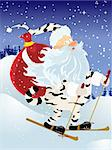 Vector Santa Claus in a tiger suit. Easy to edit and modify. EPS file included. Stock Photo - Royalty-Free, Artist: gelsomina, Code: 400-04153802