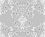 retro seamless tiling floral wallpaper pattern reminiscent of floral victorian designs inspired by greek and roman ornament. Designed to look at its best when tiled. Stock Photo - Royalty-Free, Artist: Krisdog, Code: 400-04157565