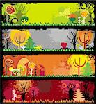 Autumn banners Stock Photo - Royalty-Free, Artist: dianka, Code: 400-04160270