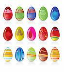 easter egg icons - vector icon set Stock Photo - Royalty-Free, Artist: stoyanh, Code: 400-04160782