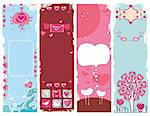 Set of Valentine's day grunge banners,  with space for your text Stock Photo - Royalty-Free, Artist: dianka, Code: 400-04161380
