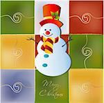 happy snowmen Stock Photo - Royalty-Free, Artist: balasoiu, Code: 400-04162188