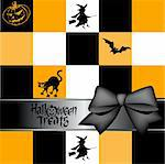 Halloween greeting card Stock Photo - Royalty-Free, Artist: balasoiu, Code: 400-04162237