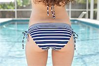 Close Up of Teenage Girl's Bottom in Bikini Stock Photo - Premium Rights-Managednull, Code: 700-04163453