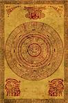 Maya calendar on ancient parchment Stock Photo - Royalty-Free, Artist: frenta, Code: 400-04166306