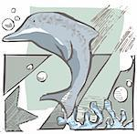 delfin under the see Stock Photo - Royalty-Free, Artist: davisales, Code: 400-04167080